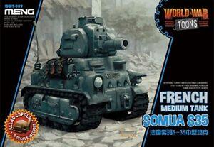 Meng-Model-WWT-009-Somua-S35-French-Medium-Tank-World-War-Toons-Q-Edition-Hot