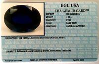 EGL USA CERTIFIED NATURAL SAPPHIRE DARK BLUE OVAL CUT 1.08 CT GENUINE GEMSTONE