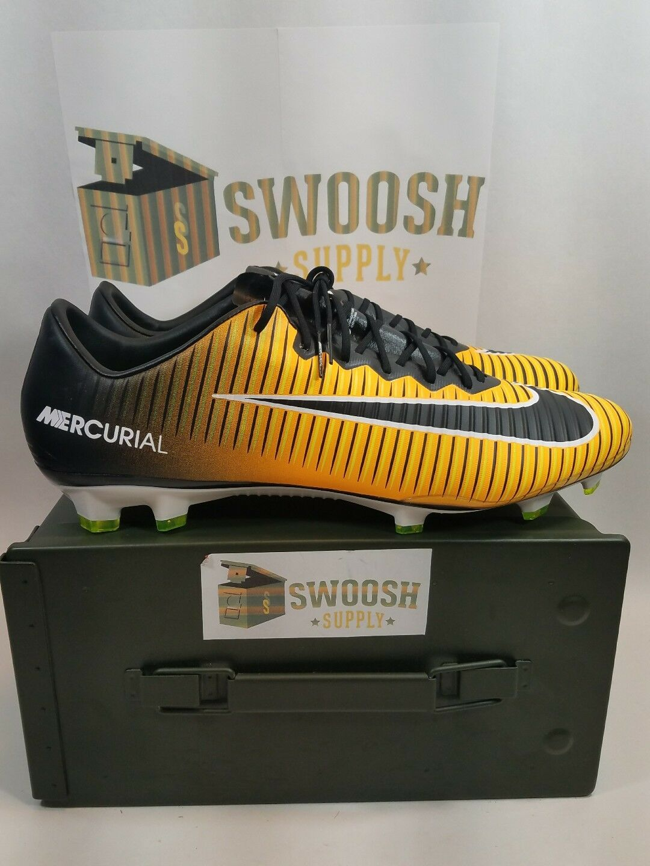 Nike Mercurial Vapor XI FG Laser Orange Black Cleats SZ 13 US 831958-801