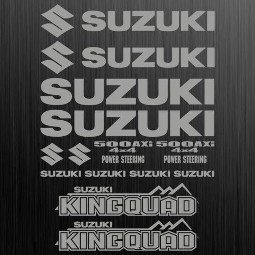 SUZUKI KINGQUAD 500 AXi sticker quad ATV 14 Pieces