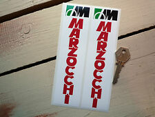 MARZOCCHI RED TEXT Racing Stickers Ducati Laverda et al
