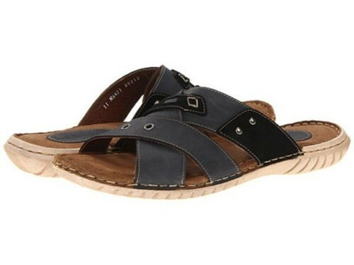 NIB   Lassen Lassen PATRIC  GENUINE LEATHER SLIP ON SANDAL