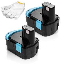 2x 18V 2000mAh Battery For HITACHI EB1812S EB1814SL EB1820L DV18DMR G18DL WH18DL