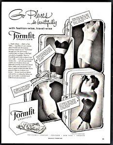 1956-FORMFIT-Bra-Long-Torso-Girdle-Vintage-Lingerie-Women-039-s-Underwear-Photo-AD