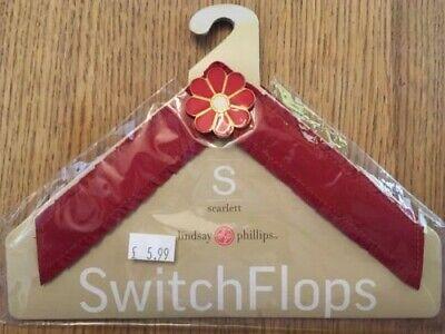 Lindsay Phillips Switch Flops Cinturino Scarlett Fiocco Rosso Taglia S Uk 2,3-mostra Il Titolo Originale Alta Qualità E Poco Costoso