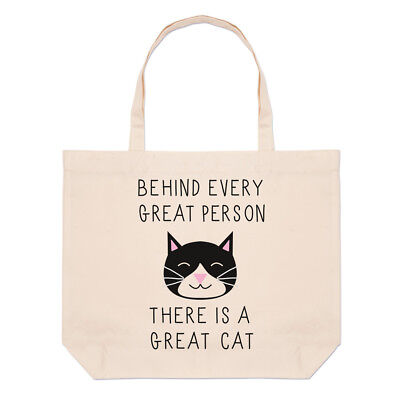 Behind Every Great Teacher Is A Super Teaching Assistant Tote Shopping Bag 42x38