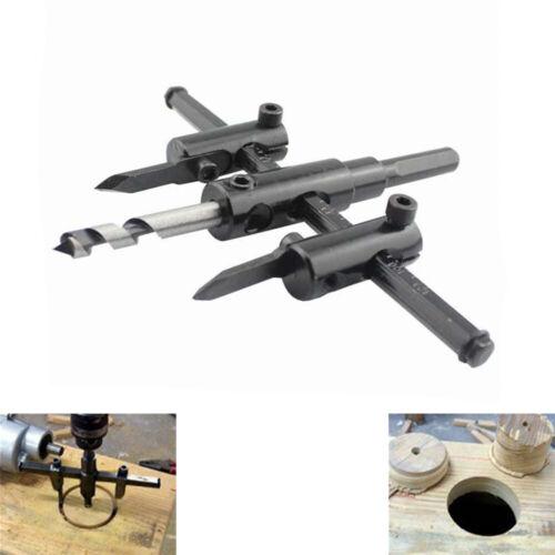 Adjustable Wood Circle Hole Saw Drill Electric Bit Cutter Kit DIY Tool 30-120mm