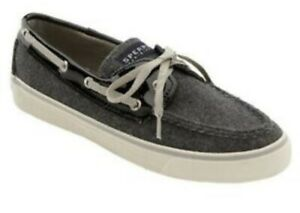 Grey-and-black-Sperry-Bahama-Boat-shoes-size-7