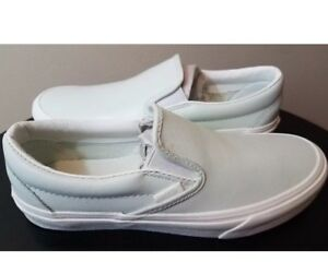 Womens VANS Classic Slip-on Shoes Mint Color Size 7.5. Leather ... 984eafc4ec