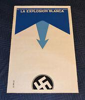 1972 Original Cuban Silkscreen Movie Poster.White explosion.Russian soviet film.