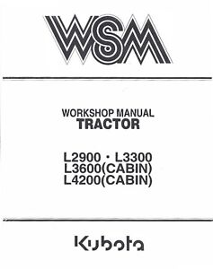 Superb Kubota L2900 L3300 L3600 L4200 Tractor Service Operators Manual Wiring Digital Resources Bemuashebarightsorg
