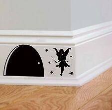 Per bambini Fata porta/foro/Wall Art Adesivo Camera Da Letto/Decorazione