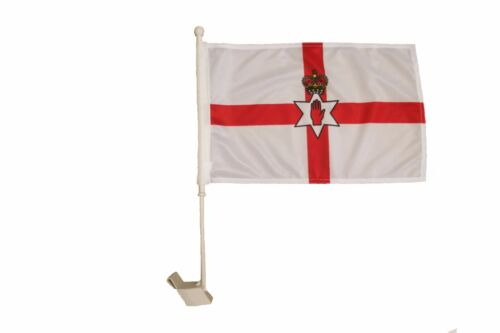 """NORTHERN IRELAND COUNTRY HEAVY DUTY 12/"""" X 18/"""" INCH CAR STICK FLAG BANNER ..NEW"""