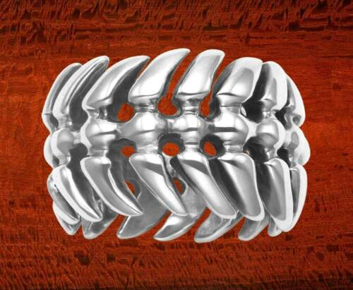 Sterling Silver Dragon de la colonne vertébrale Ring-R391