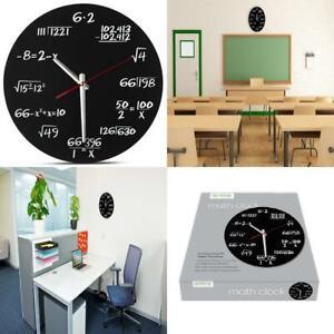 Decodyne Math Clock Unique Wall Clock Each Hour Marked By A Simple Math