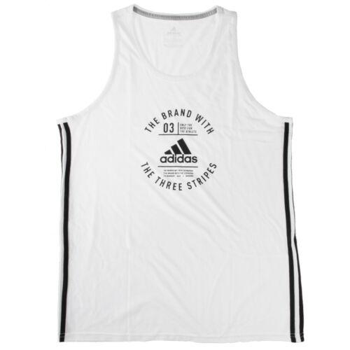Adidas Badge Of Sport Emblem Tank Top Mens CF8239 White Black Shirt Size L