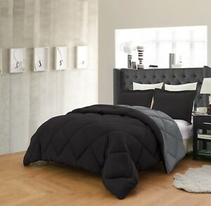 Gray//White With Sheet Empire Home Essentials Down Reversible 7 piece comforter