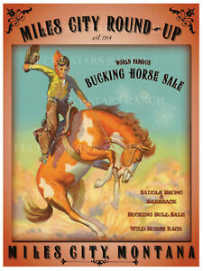 VINTAGE-RODEO-POSTER-Miles-City-Round-Up-Miles-City-Montana