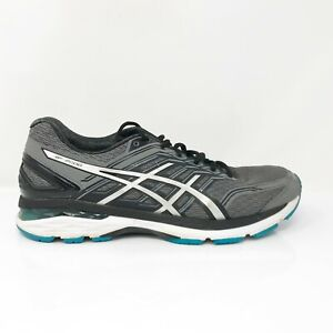 Asics-Mens-GT-2000-5-T707N-Gray-Black-Running-Shoes-Lace-Up-Low-Top-Size-10-5
