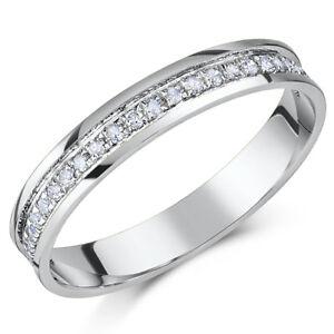 Platinum-Eternity-Diamond-Ring-Half-Eternity-0-15ct-0-25ct-Hallmarked-SALE