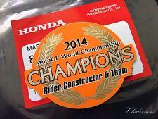 HONDA GENUINE CHAMPIONS 2014 Marc Marque REPSOL HRC MOTO GP STICKER DECAL EMBLEM