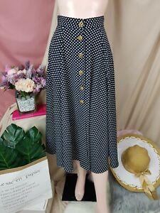 cherrie424: Vintage Polka Midi Skirt