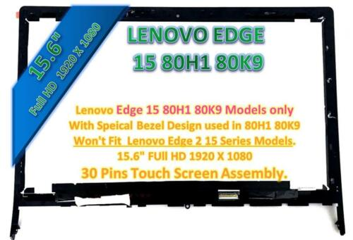 """Lenovo Edge 15 LCD Screen Touch Assembly 15.6/"""" 80H1 80K9"""