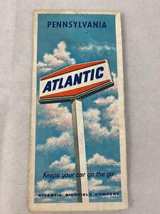 Pennsylvania Atlantic Richfield Company 1967 Fold Out Paper Map  Gasoline P6C