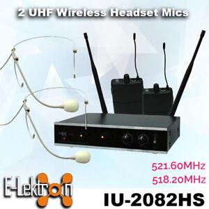 E-Lektron-IU-2082HS-digital-UHF-2-x-headset-wireless-microphone-system-Set
