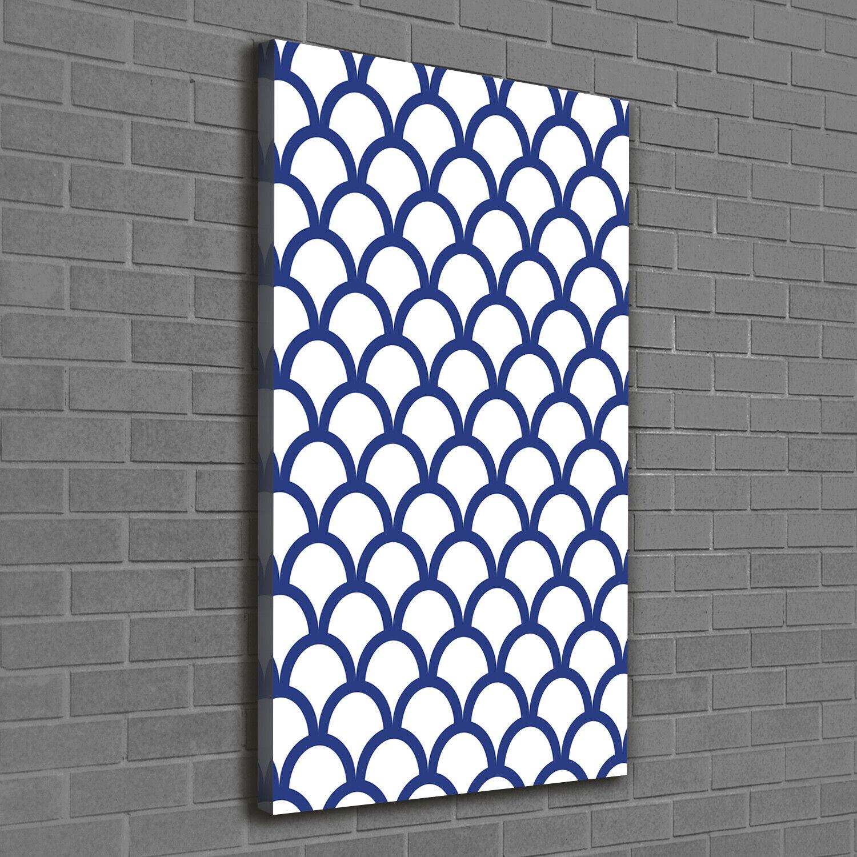 Leinwand-Bild Kunstdruck Hochformat 60x120 Bilder Marines Muster