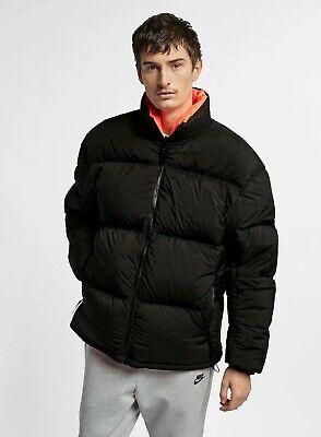 Nike NIkeLab Collection Puffer Jacket Goose Down Black Orange Reversible Lab XL | eBay