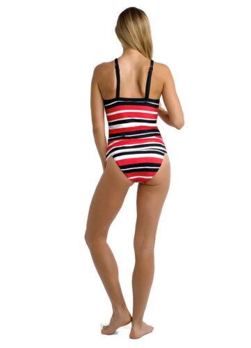 BNWT Seafolly Walk The Line 2 Piece Tankini Red Black /& White Stripe Size 8