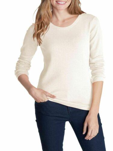 Eddie Bauer Femme Basic en coton chemise manches longues NOUVEAU