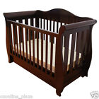 Brand NEW NZ Pine Walnut 3-in-1 Baby Sleigh Cot Toddle Sofa Day Bed with Drawers