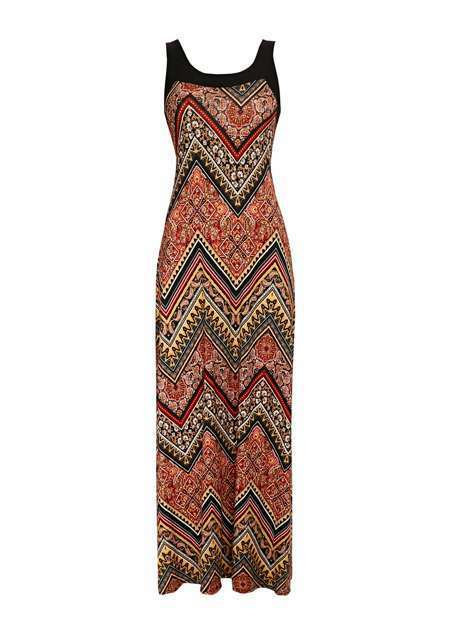 Nouveau Robe maxi Wallis Rust Paisley Taille UK14 avec étiquettes Black Friday