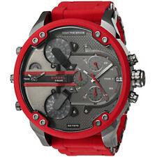 Diesel DZ7370 Mr. Daddy 2.0 Silicone Men's Watch - Red/Gray