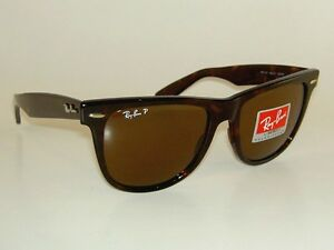 dde1e30d14 New RAY BAN Sunglasses Wayfarer Brown Frame RB 2140 902 57 Polarized ...