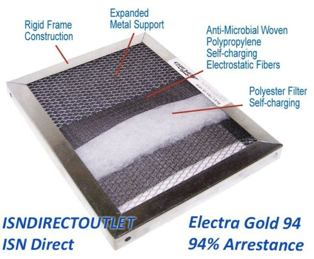 14x20x1 Electrostatic Washable Permanent A//C Furnace Air Filter GOLD FRAME Reusable