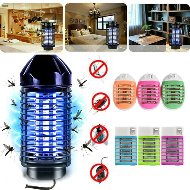 Electric UV Light Mosquito Killer Lamp Home Fly Bug Insect Zapper Trap EU/US JT