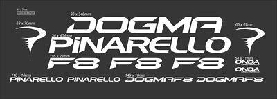 PINARELLO DOGMA F8 CUSTOM MADE FRAME DECAL SET BLUE