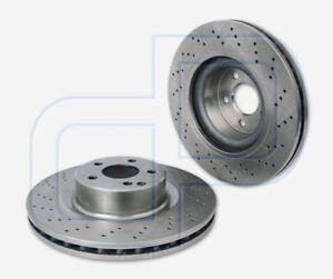 2-gelochte-Bremsscheiben-MERCEDES-W220-S-600-S55-AMG-vorne-Vorderachse-345-mm