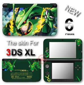 pokemon emerald rayquaza delta skin sticker cover for original nintendo 3ds xl ebay. Black Bedroom Furniture Sets. Home Design Ideas