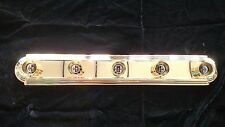 "NEW VANITY BATHROOM FIXTURE BAR LIGHT RACE TRACK 30""  5 LIGHT POLISHED BRASS"