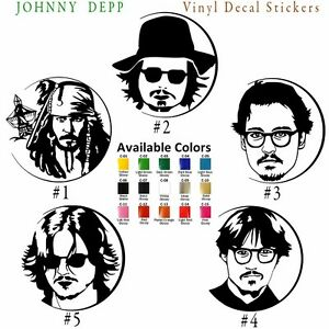 Johnny Depp Vinyl Decal Sticker Car Window Wall Pirate of Caribbean Jack Sparrow