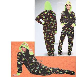 16751773d Teenage Mutant Ninja Turtles ADULT 1PC Costume PJS Fleece Hooded ...