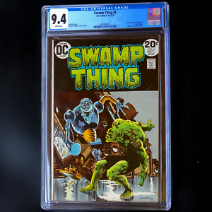 SWAMP-THING-6-CGC-9-4-WHITE-PGs-Len-Wein-Story-1st-Series-DC-1973