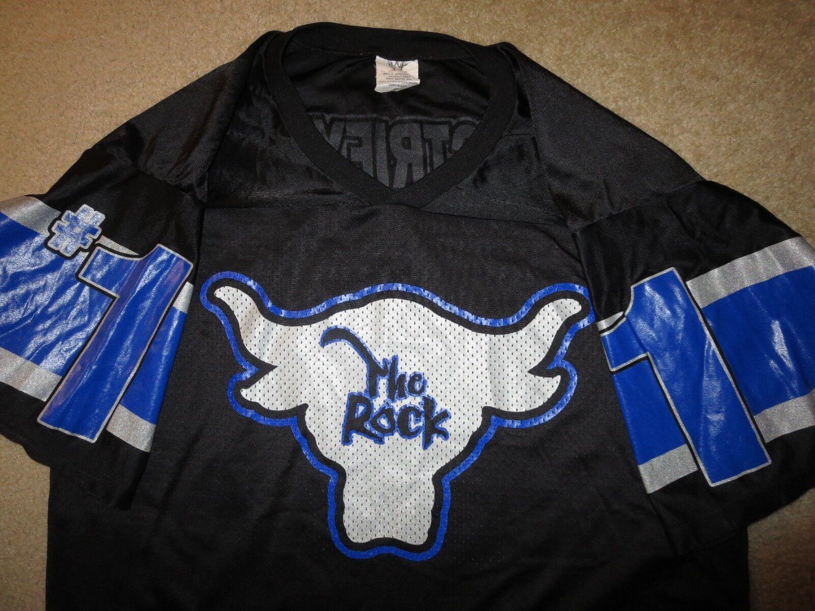 La Roca Dwayne Johnson Lucha Mundial Mundial Mundial Federación Wwf Wwe Camiseta de Fútbol de Lg 133290