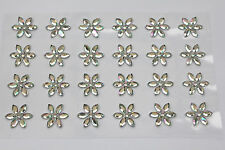 24 x 15mm Crystal Sunflower AB Sticker Self Adhesive Cards Invites Flowers