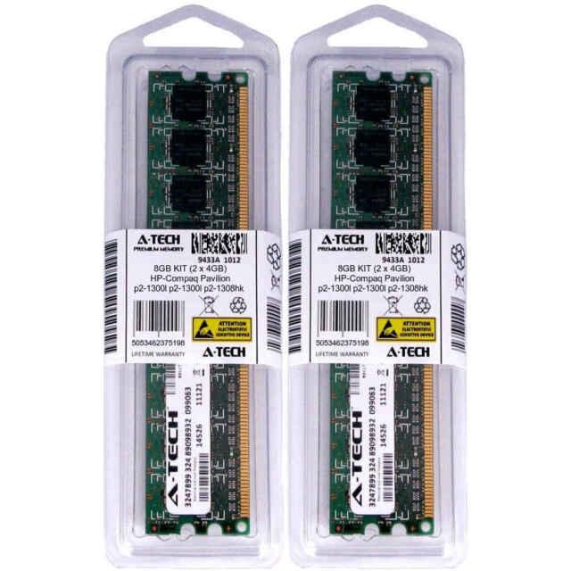 8GB KIT 2 x 4GB HP Compaq Pavilion p2-1300l p2-1308hk p2-1310 Ram Memory