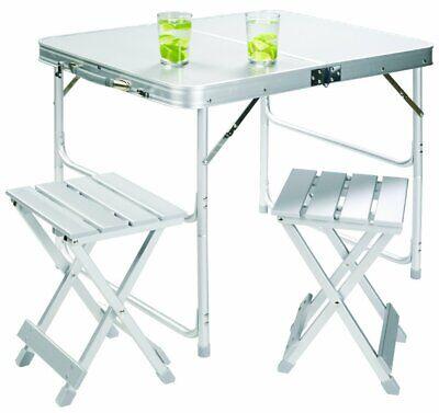 Tavolo A Valigetta Campeggio E Outdoor.Grand Canyon Alluminio Tavolo Set Per 2 Da Valigia Campeggio
